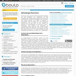 Comment rédiger une dissertation - méthodologie sur Oboulo