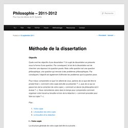Introduction dissertation philo mthode