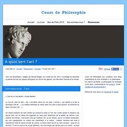 Corrigé gratuit de dissertation philo : A quoi sert l'art