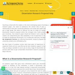 Dissertation Research Proposal Help UK By Professional Writers