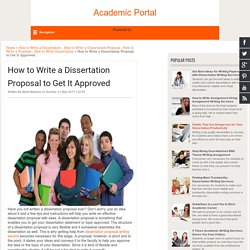 How to Write a Dissertation Proposal to Get It Approved