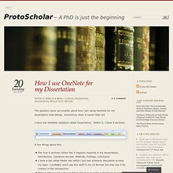 How I use OneNote for my Dissertation « ProtoScholar