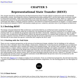 Fielding Dissertation: CHAPTER 5: Representational State Transfer (REST)