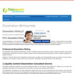 Dissertation Writing Services USA,Singapore
