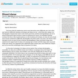 Dissert danse - Dissertation - sosolathug