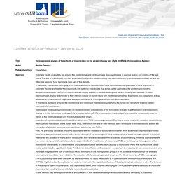 UNIVERSITAT BONN - 2019 - Dissertation en ligne : Toxicogenomic studies of the effects of insecticides on the western honey bee (Apis mellifera; Hymenoptera: Apidae)