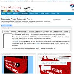 Dissertation Station - Dissertation Station - LibGuides at Newcastle University