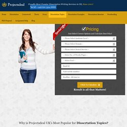 Dissertation Topics Help - Online Dissertation Writing Service