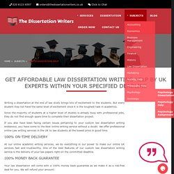 Law Dissertation Help, Law Dissertation Writing Services