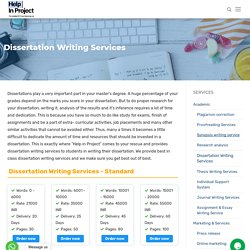 ,Dissertation Writing Services,Dissertation Writing Help - Help in Project