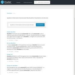 Dissertations gratuites sur Système d Information Commerciale Chez Decathlon