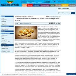 La dissimulation d'or produite fait perdre un milliard par mois à l'Etat