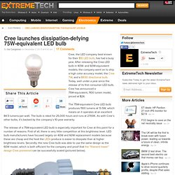 Cree launches dissipation-defying 75W-equivalent LED bulb