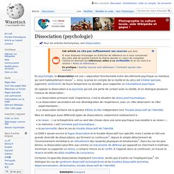 Dissociation (psychologie)