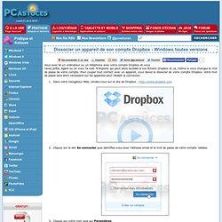 Dissocier un appareil de son compte Dropbox - Windows toutes versions