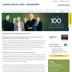Dissolution Of Marriage Law Firm