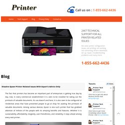 Dissolve Epson Printer Related Issues With Expert's Advice Only