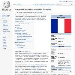 Force de dissuasion nucléaire française