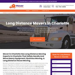 Long Distance Movers Charlotte - Cross Country Movers