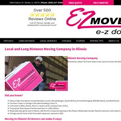 Reputed Moving Company In Chicago, IL - EZ Movers Inc.