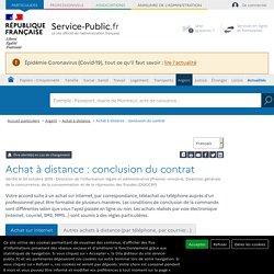 Achat à distance : conclusion du contrat