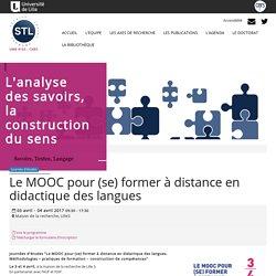 Le MOOC pour (se) former à distance en didactique des langues: Labo Savoirs, Textes, Langage UMR8163