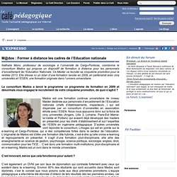 M@dos : Former à distance les cadres de l'Education nationale