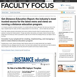 Distance Education Report newsletter