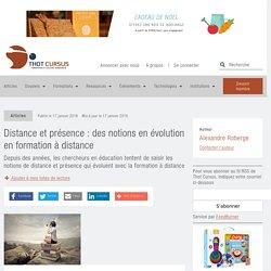 Distance et présence : des notions en évolution en formation à distance