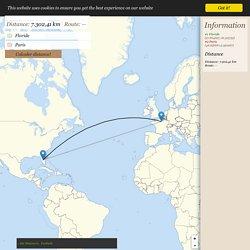 Distance Floride → Paris - Distance entre Floride et Paris
