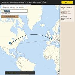 Distance France → états Unis - Distance entre France et états Unis