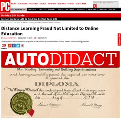 Distance Learning Fraud Not Limited to Online Education