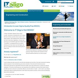 Open & Distance Learning » Introduction to Lean Sigma Quality(Free MOOC)