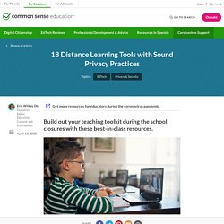 18 Distance Learning Tools with Sound Privacy Practices