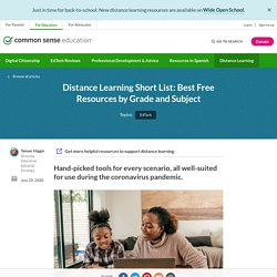 Distance Learning Short List: Best Free Resources by Grade and Subject