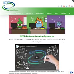 Distance Learning Resources · The NEED Project