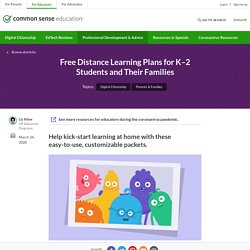 Free Distance Learning Plans for K–2 Students and Their Families