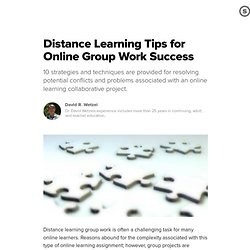 Distance Learning Tips for Online Group Work Success