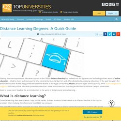 Distance Learning Degrees: A Quick Guide