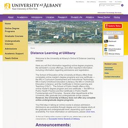 Online & Distance Learning - University at Albany-SUNY