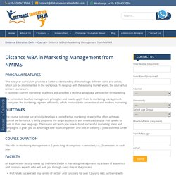 Distance MBA in Marketing Management from NMIMS