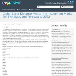 Global Laser Distance Measuring Instrument Market 2016 Analysis and Forecast to 2022