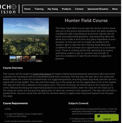 Hog Saddle Tripod Course From Rauchprecision