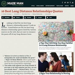 10 Best Long Distance Relationships Quotes | Made Manual