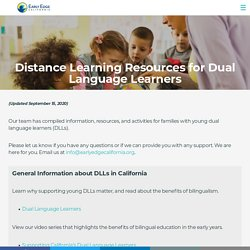 Distance Learning Resources for Dual Language Learners – Early Edge California