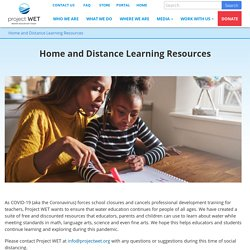 Home and Distance Learning Resources