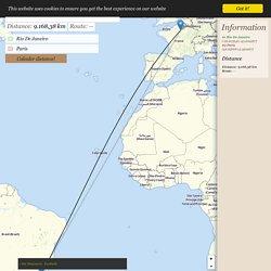 Distance Rio De Janeiro → Paris - Distance entre Rio De Janeiro et Paris