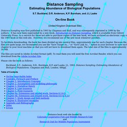Distance Sampling - On-line book