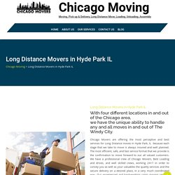 Long Distance Movers in Hyde Park IL