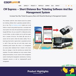 Short distance bus ticketing software